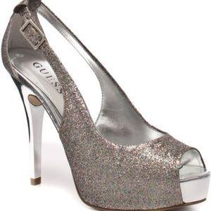 Guess Hondo Glitter Open Toe Heels